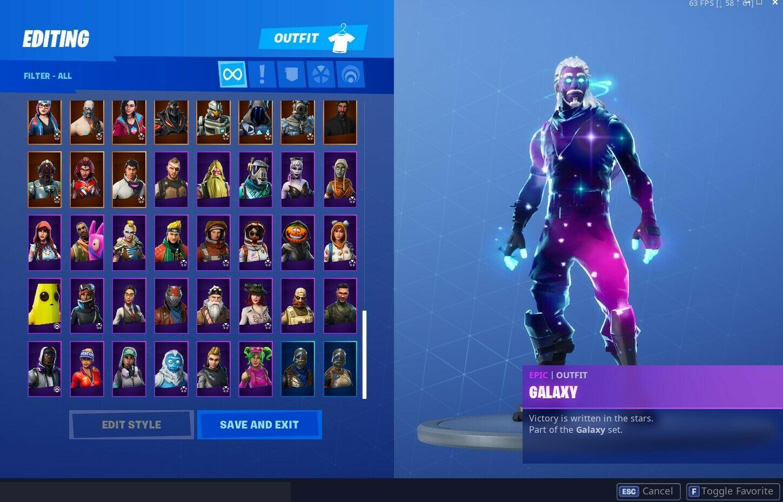Fortnite Account With Galaxy Black Knight Og Skull Trooper